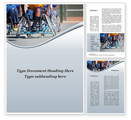 Paralympic Games Word Template#1