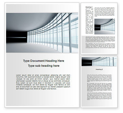 Glassed-in Gallery Word Template, 09996, Construction — PoweredTemplate.com
