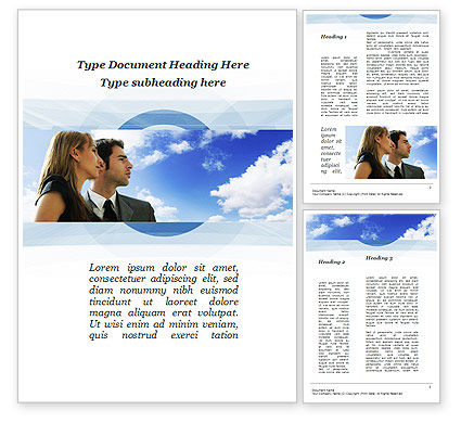 Young Couple Looking To The Future Word Template, 10004, People — PoweredTemplate.com