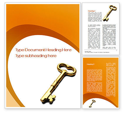Consulting: Golden Key Word Template #10012