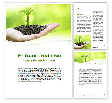Business Concepts: Plant Growth Word Template #10014