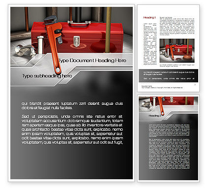 Utilities/Industrial: Plumbing Tool Box Word Template #10017