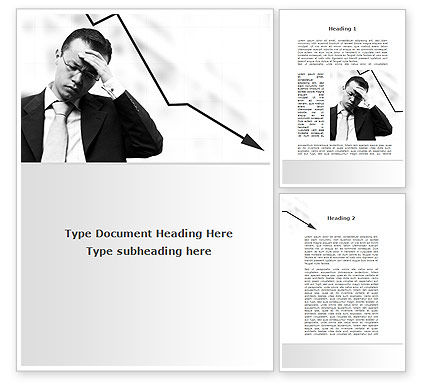 Slump Word Template, 10020, Business — PoweredTemplate.com