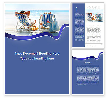 Holiday/Special Occasion: Sunny Day On The Beach Word Template #10021