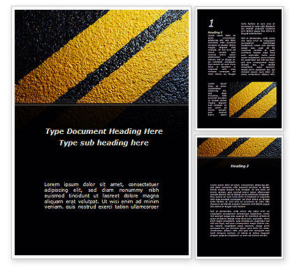 Construction: Dividing Line Word Template #10022