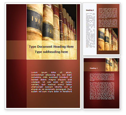 Tomes on the Bookshelf Word Template