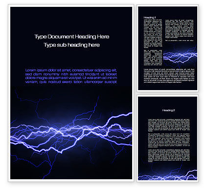 Abstract/Textures: Lightning in the Night Sky Word Template #10024