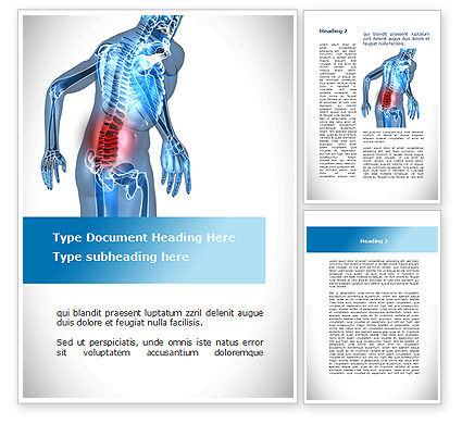 Lumbar Spine Word Template, 10035, Medical — PoweredTemplate.com