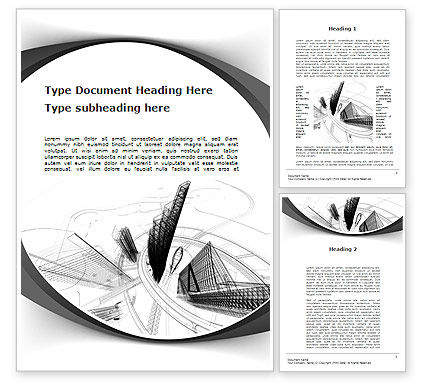 World of Tomorrow Word Template, 10039, Construction — PoweredTemplate.com