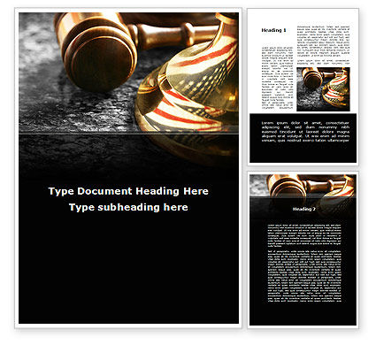 American Justice Word Template, 10041, Legal — PoweredTemplate.com
