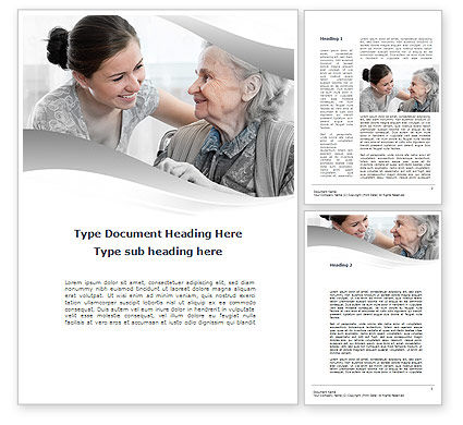 Religious/Spiritual: Elderly People Care Word Template #10042
