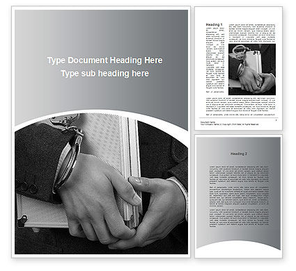 Secure Documents Word Template, 10050, Financial/Accounting — PoweredTemplate.com