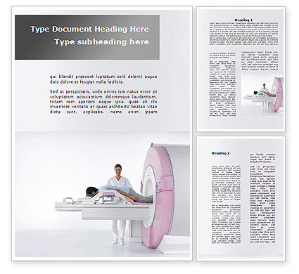 Medical: Full Body Scan Word Template #10052