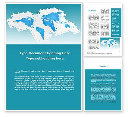 Wide World Jigsaw Word Template, 10054, Global — PoweredTemplate.com