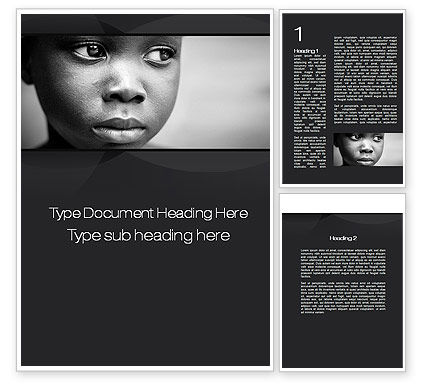 Black Boy Word Template, 10064, People — PoweredTemplate.com