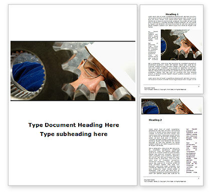 Adjusting Gear Transmission Word Template, 10065, Utilities/Industrial — PoweredTemplate.com