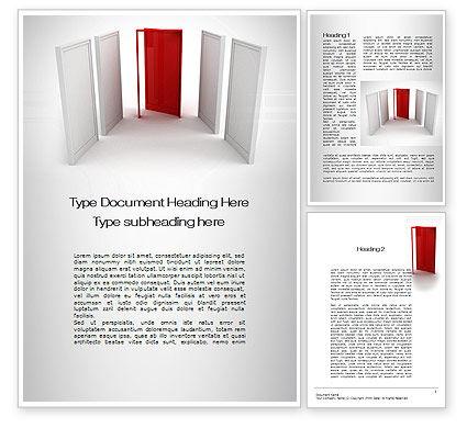 Doorway Word Template, 10066, Consulting — PoweredTemplate.com
