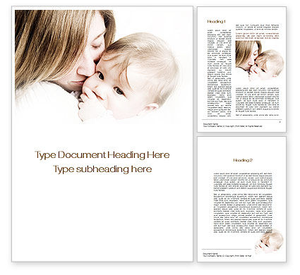 People: Kiss Your Baby Word Template #10074