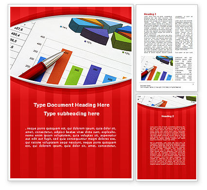 Analytical Work Word Template, 10079, Financial/Accounting — PoweredTemplate.com
