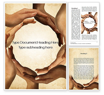 Circle of Hands Word Template