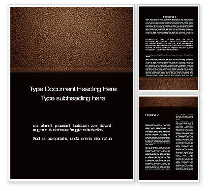 Abstract/Textures: Embossed Leather Cover Word Template #10086