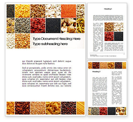 Convenience Foods Word Template, 10087, Agriculture and Animals — PoweredTemplate.com