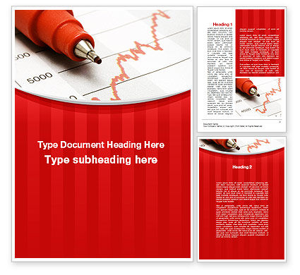 Financial/Accounting: Indexes Growth Chart Word Template #10096