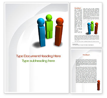 Points Of View Word Template, 10097, Business Concepts — PoweredTemplate.com