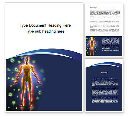 Human Immune System Word Template, 10098, Medical — PoweredTemplate.com