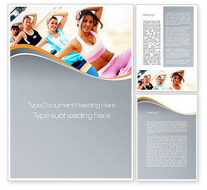 Workout Word Template, 10108, Sports — PoweredTemplate.com
