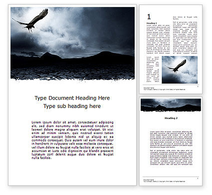 Nature & Environment: Attacking Eagle Word Template #10109