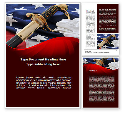 Military: Valor Word Template #10113