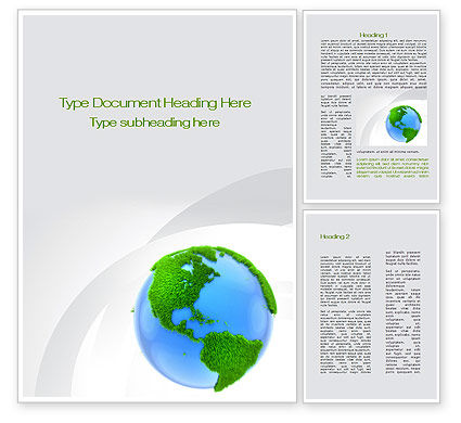 World in Forest Word Template, 10115, Global — PoweredTemplate.com