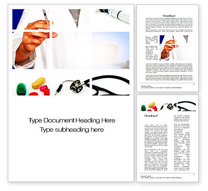 Medical Consultancy Word Template, 10123, Medical — PoweredTemplate.com