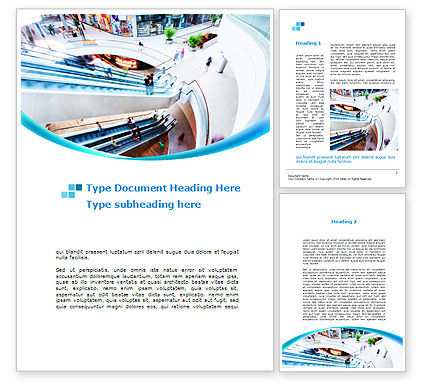 Shopping Mall Word Template, 10128, Careers/Industry — PoweredTemplate.com
