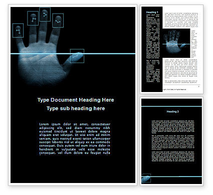 Digital Fingerprinting Word Template, 10137, Legal — PoweredTemplate.com
