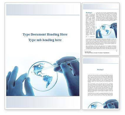 Vaccine Worldwide Concern Word Template, 10141, Technology, Science & Computers — PoweredTemplate.com