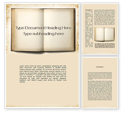 Old Book Word Template 10151 Poweredtemplate