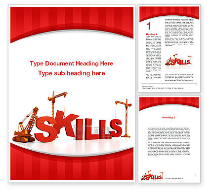 Education & Training: Building Skills Word Template #10165