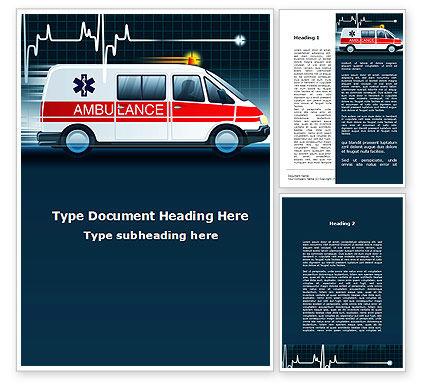 Racing Ambulance Word Template, 10175, Medical — PoweredTemplate.com