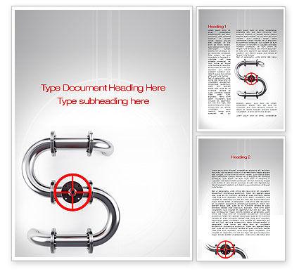 Gas Pipeline Word Template, 10178, Business Concepts — PoweredTemplate.com