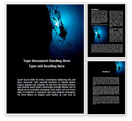 Diver Word Template, 10179, Sports — PoweredTemplate.com