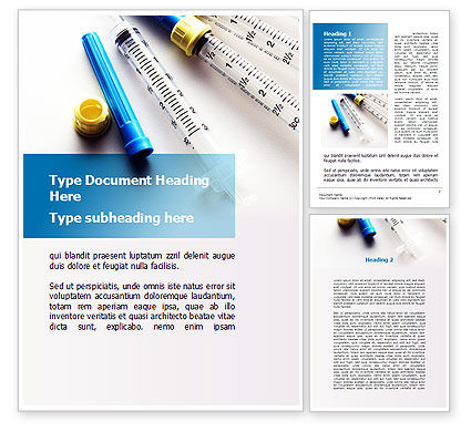 Syringes Word Template, 10181, Medical — PoweredTemplate.com