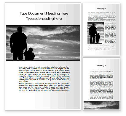 Father Word Template, 10182, Religious/Spiritual — PoweredTemplate.com