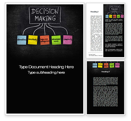 Decision-Making Process Word Template, 10203, Business Concepts — PoweredTemplate.com