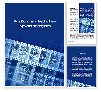 Countdown on Film Word Template, 10204, Careers/Industry — PoweredTemplate.com