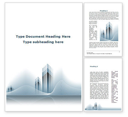 Floating City Word Template, 10210, Construction — PoweredTemplate.com