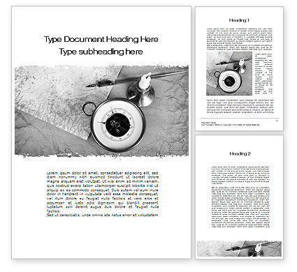 Autobiografie Word Template, 10211, Business Concepten U2014 PoweredTemplate.com  Microsoft Word Biography Template