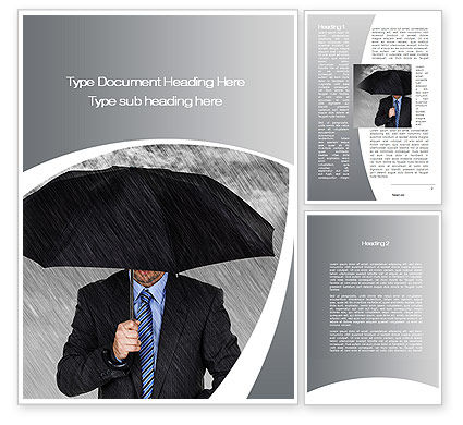 Protection Word Template, 10217, Business Concepts — PoweredTemplate.com
