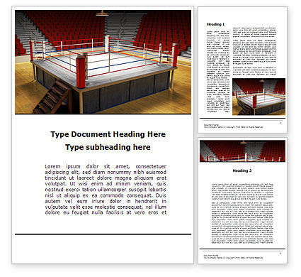 Sports: Before the Fight Word Template #10223